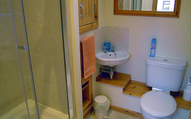 The Byre, Stoer, shower room